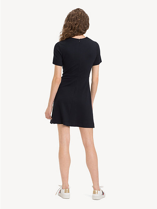 TOMMY HILFIGER Crew Neck Short Sleeved Dress - BLACK BEAUTY - TOMMY HILFIGER NEW IN - detail image 1