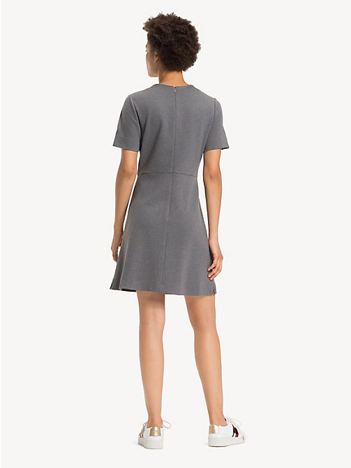 TOMMY HILFIGER Crew Neck Short Sleeved Dress - MEDIUM GREY HTR - TOMMY HILFIGER Dresses - detail image 1
