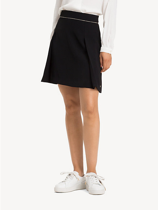 TOMMY HILFIGER Chain Detail Crepe Skirt - BLACK BEAUTY - TOMMY HILFIGER Trousers & Skirts - detail image 1