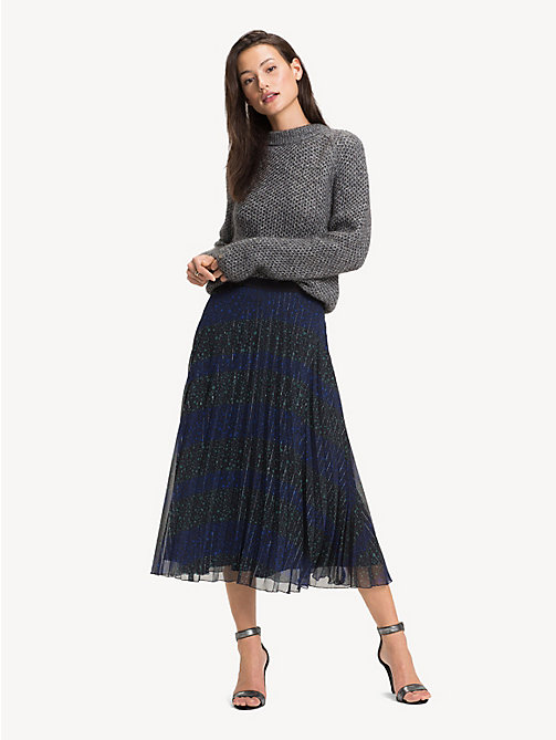 TOMMY HILFIGER Stars And Stripes Midi Skirt - ALLOVER STAR PRT / BLACK BEAUTY - TOMMY HILFIGER Party Looks - main image