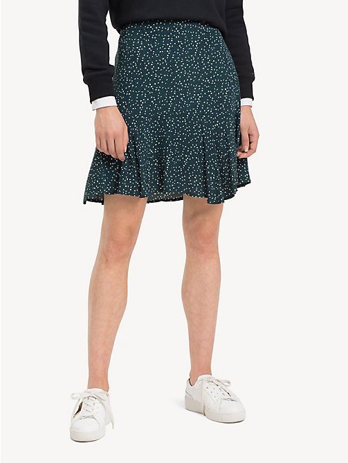 TOMMY HILFIGER Patterned Flared Skirt - SCATTER MINIMAL / PONDEROSA PINE - TOMMY HILFIGER Skirts - detail image 1