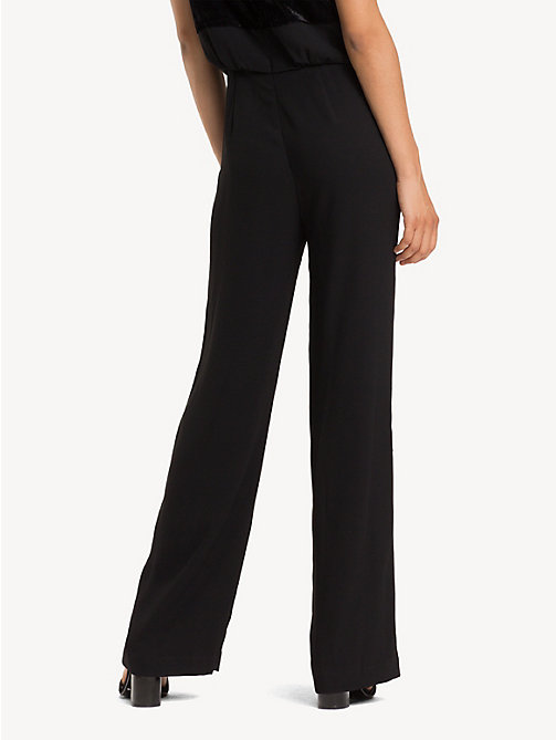 TOMMY HILFIGER Textured Stripe Jumpsuit - BLACK BEAUTY - TOMMY HILFIGER Party Looks - detail image 1