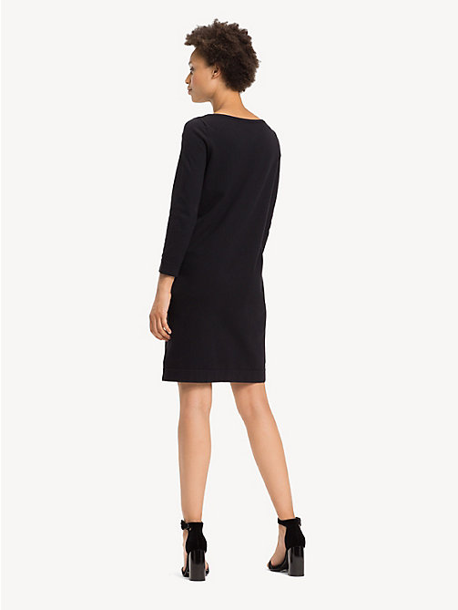 TOMMY HILFIGER Boat Neck Shift Dress - BLACK BEAUTY - TOMMY HILFIGER Party Looks - detail image 1