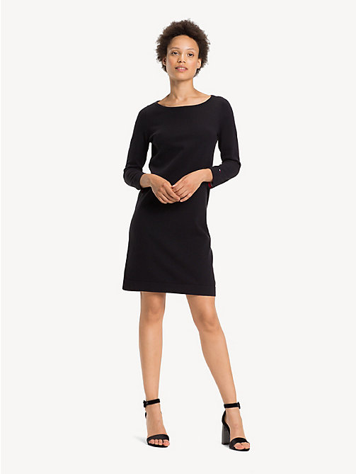 TOMMY HILFIGER Boat Neck Shift Dress - BLACK BEAUTY - TOMMY HILFIGER Party Looks - main image