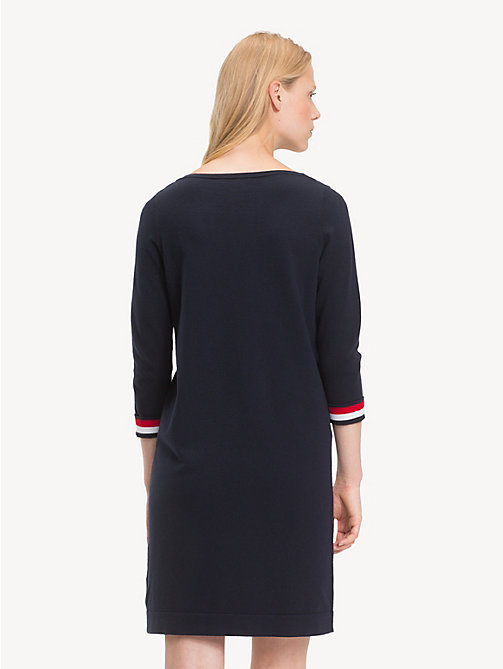 TOMMY HILFIGER Boat Neck Shift Dress - MIDNIGHT - TOMMY HILFIGER NEW IN - detail image 1