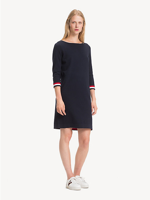 TOMMY HILFIGER Boat Neck Shift Dress - MIDNIGHT - TOMMY HILFIGER NEW IN - main image