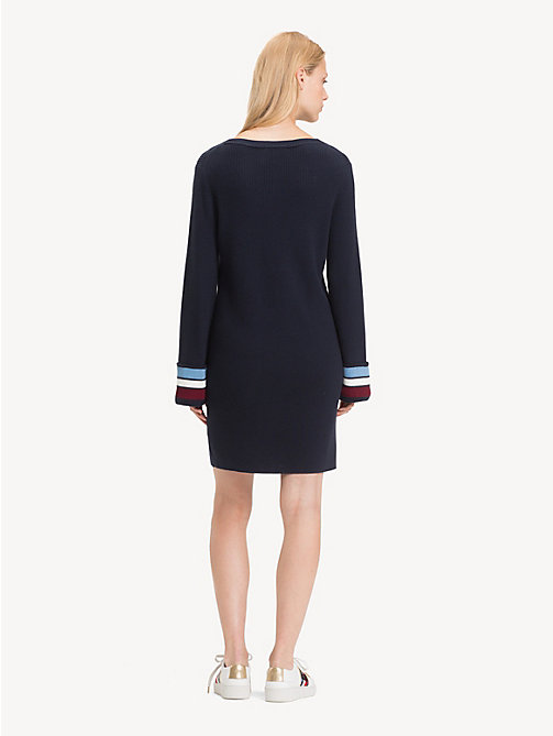 TOMMY HILFIGER Regular fit jurk van kasjmiermix - MIDNIGHT - TOMMY HILFIGER Sweaterjurken - detail image 1