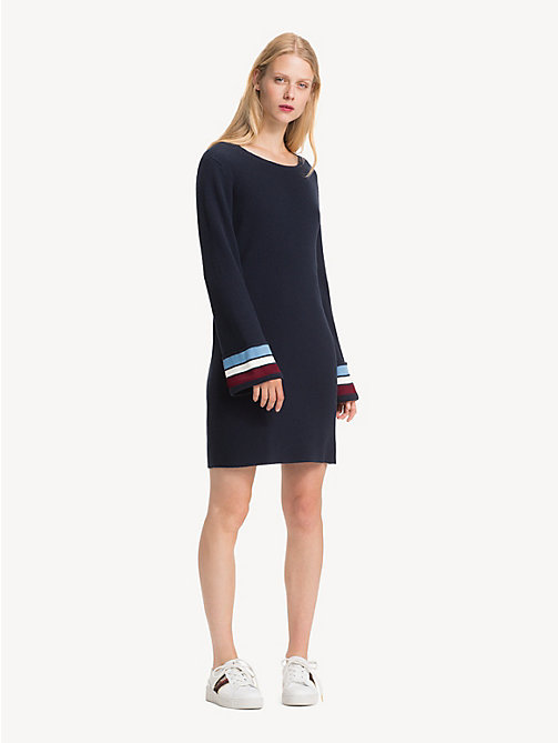 TOMMY HILFIGER Regular fit jurk van kasjmiermix - MIDNIGHT - TOMMY HILFIGER Sweaterjurken - main image