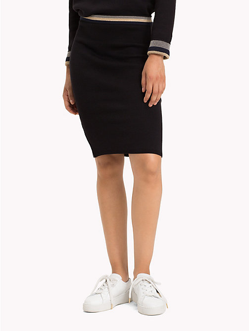 TOMMY HILFIGER Slim Fit Reversible Stripe Skirt - BLACK BEAUTY - TOMMY HILFIGER Skirts - detail image 1