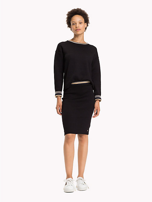 TOMMY HILFIGER Slim fit reversible rok met strepen - BLACK BEAUTY - TOMMY HILFIGER Inspiratie - main image