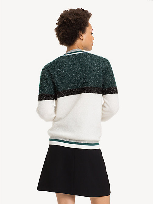 TOMMY HILFIGER Weihnachtspullover mit Mock Neck - PONDEROSA PINE MULTI - TOMMY HILFIGER Party-Looks - main image 1