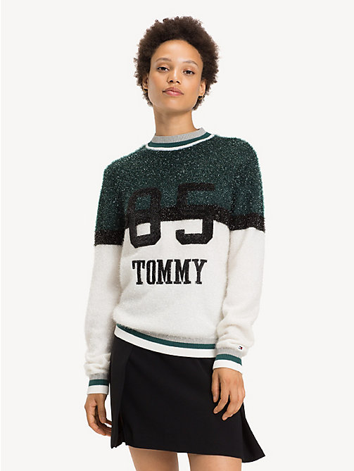 TOMMY HILFIGER Mock Neck Holiday Jumper - PONDEROSA PINE MULTI - TOMMY HILFIGER Party Looks - main image
