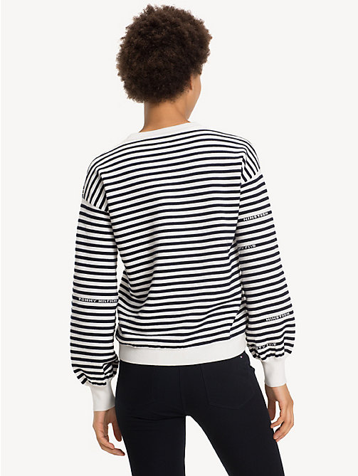 TOMMY HILFIGER Mock Neck Jumper - SNOW WHITE / SKY CAPTAIN - TOMMY HILFIGER NEW IN - detail image 1