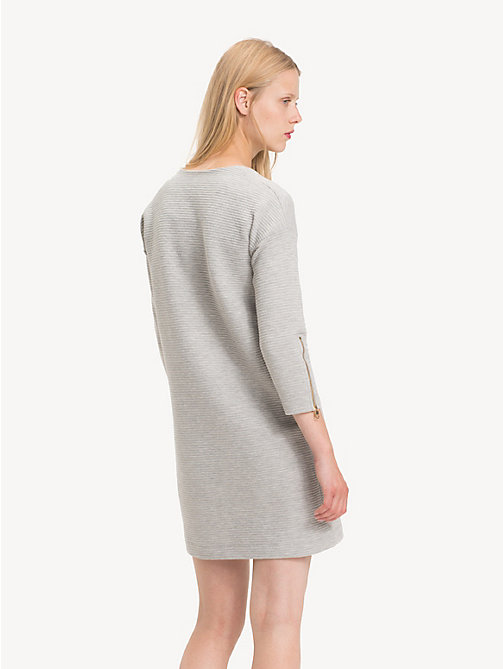TOMMY HILFIGER Relaxed Fit Jumper Dress - LIGHT GREY HTR - TOMMY HILFIGER Dresses & Jumpsuits - detail image 1