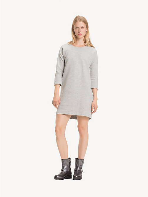 TOMMY HILFIGER Relaxed Fit Jumper Dress - LIGHT GREY HTR - TOMMY HILFIGER Dresses & Jumpsuits - main image