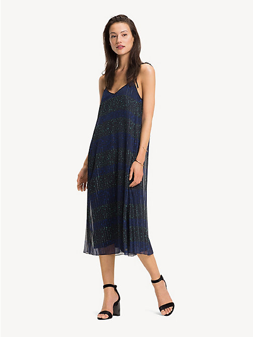 TOMMY HILFIGER Slipdress met sterren en strepen - ALLOVER STAR PRT / BLACK BEAUTY - TOMMY HILFIGER Kleding - main image