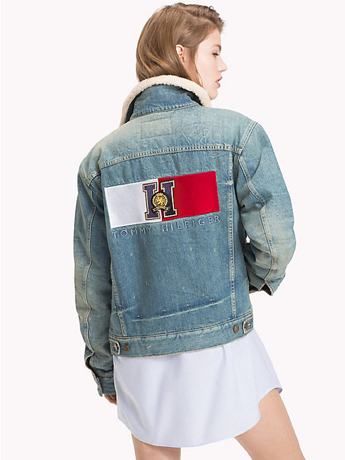 TOMMY HILFIGER Tommy Icons Denim Jacket - MID INDIGO - TOMMY HILFIGER TOMMY NOW WOMEN - detail image 1