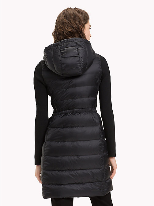 TOMMY HILFIGER Contrast Material Sleeve Padded Coat - BLACK BEAUTY - TOMMY HILFIGER NEW IN - detail image 1