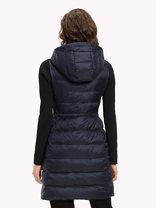 TOMMY HILFIGER Contrast Material Sleeve Padded Coat - MIDNIGHT - TOMMY HILFIGER NEW IN - detail image 1