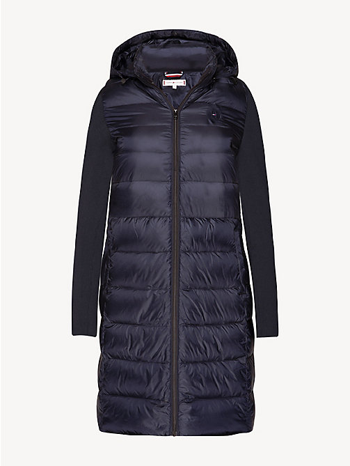 TOMMY HILFIGER Contrast Material Sleeve Padded Coat - MIDNIGHT - TOMMY HILFIGER Coats - detail image 1