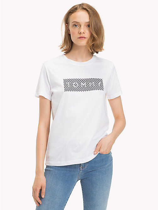 TOMMY HILFIGER Athleisure Logo T-Shirt - CLASSIC WHITE - TOMMY HILFIGER Tops - main image