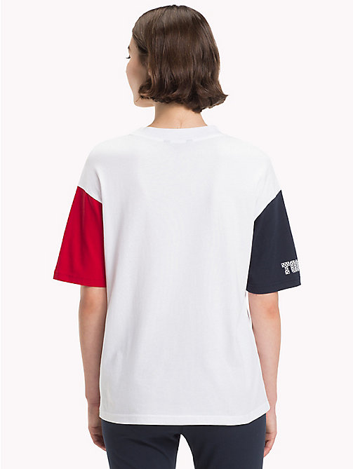 TOMMY HILFIGER Oversized Athleisure Logo T-Shirt - CLASSIC WHITE - TOMMY HILFIGER T-Shirts - detail image 1