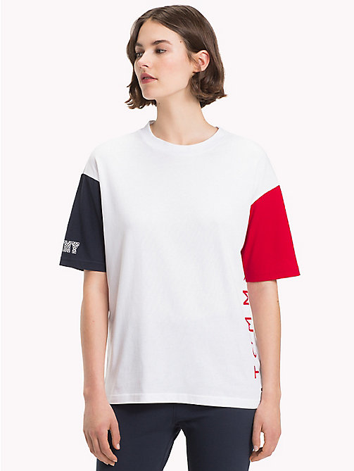 TOMMY HILFIGER Oversized Athleisure Logo T-Shirt - CLASSIC WHITE - TOMMY HILFIGER T-Shirts - main image