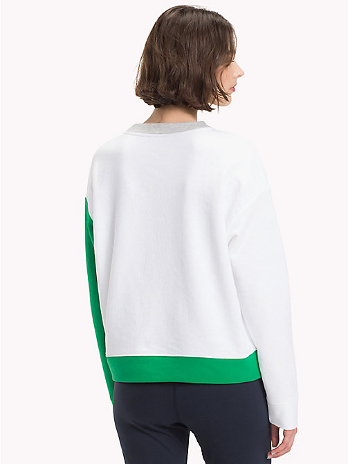 TOMMY HILFIGER Athleisure Contrast Sleeve Sweatshirt - LGH/CL.WHITE/JELLY BEAN - TOMMY HILFIGER Clothing - detail image 1