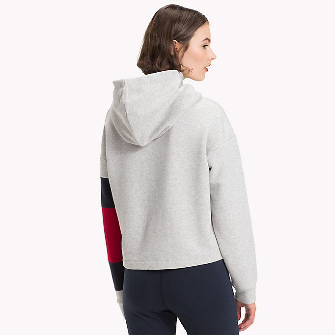 TOMMY HILFIGER Cropped Colour-Blocked Sleeve Hoodie - SUNSHINE - TOMMY HILFIGER Women - detail image 1
