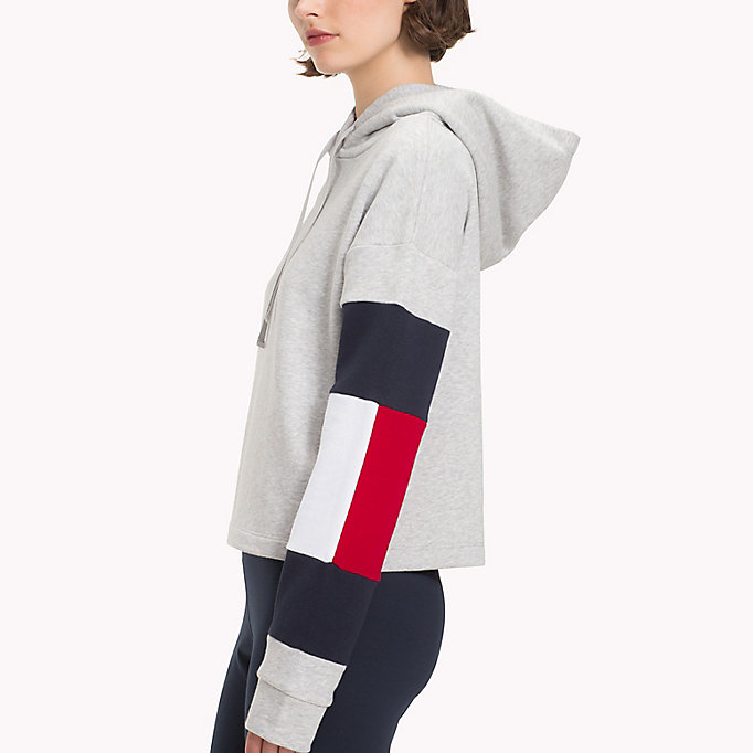 TOMMY HILFIGER Cropped Colour-Blocked Sleeve Hoodie - SUNSHINE - TOMMY HILFIGER Women - detail image 2