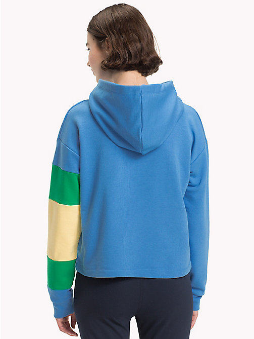 TOMMY HILFIGER Cropped Colour-Blocked Sleeve Hoodie - REGATTA - TOMMY HILFIGER Athleisure - detail image 1