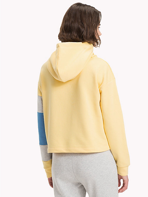 TOMMY HILFIGER Cropped Colour-Blocked Sleeve Hoodie - SUNSHINE - TOMMY HILFIGER Hoodies - detail image 1