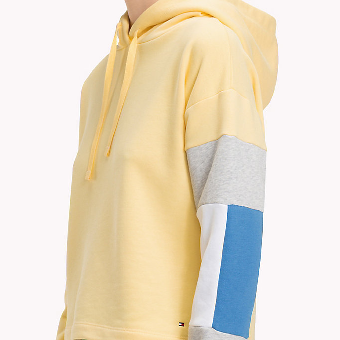 TOMMY HILFIGER Cropped Colour-Blocked Sleeve Hoodie - REGATTA - TOMMY HILFIGER Women - detail image 2