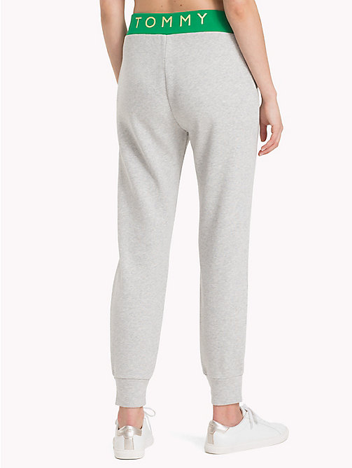 TOMMY HILFIGER Contrast Waistband Athleisure Joggers - LIGHT GREY HTR - TOMMY HILFIGER Joggers - detail image 1