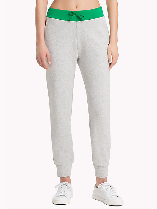 TOMMY HILFIGER Contrast Waistband Athleisure Joggers - LIGHT GREY HTR - TOMMY HILFIGER Joggers - main image