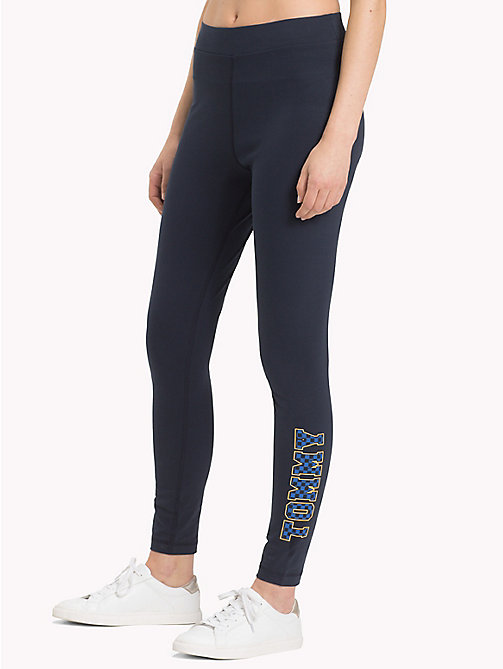 TOMMY HILFIGER Athleisure Logo Leggings - MIDNIGHT - TOMMY HILFIGER Athleisure - main image