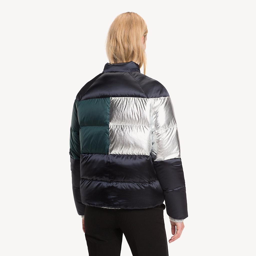 Tommy Hilfiger - Metallic Colour-Blocked Puffer Jacket - 2