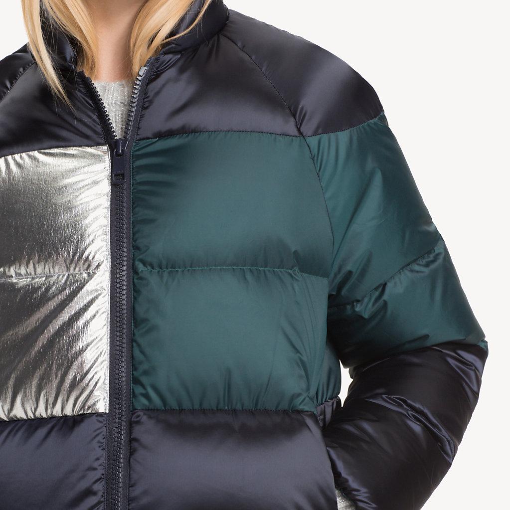 Tommy Hilfiger - Metallic Colour-Blocked Puffer Jacket - 4