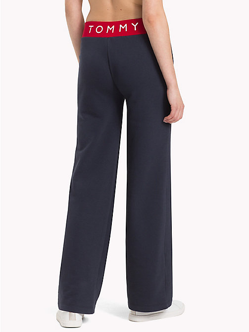 TOMMY HILFIGER Wide Leg Athleisure Trousers - MIDNIGHT - TOMMY HILFIGER Athleisure - detail image 1