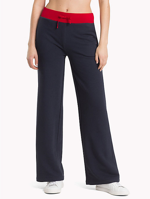 TOMMY HILFIGER Wide Leg Athleisure Trousers - MIDNIGHT - TOMMY HILFIGER Clothing - main image