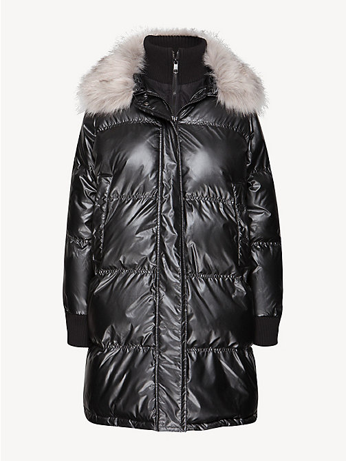 TOMMY HILFIGER Metallic Padded Coat - BLACK BEAUTY - TOMMY HILFIGER Coats - detail image 1