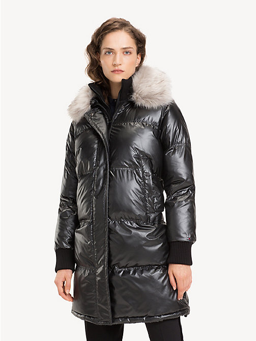 TOMMY HILFIGER Metallic Padded Coat - BLACK BEAUTY - TOMMY HILFIGER Coats - main image