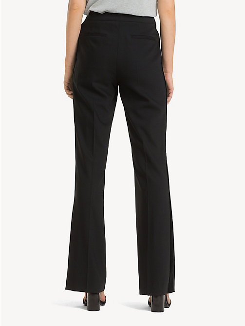 TOMMY HILFIGER Regular Fit Velvet Stripe Flared Trousers - BLACK BEAUTY - TOMMY HILFIGER Flared Trousers - detail image 1