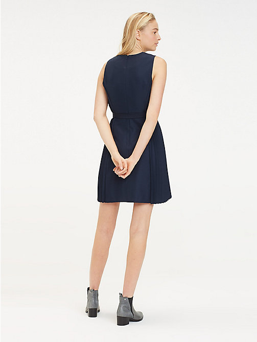 TOMMY HILFIGER Recycling-Minikleid mit V-Ausschnitt - MIDNIGHT - TOMMY HILFIGER Sustainable Evolution - main image 1