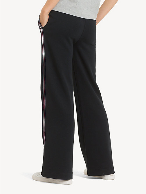 TOMMY HILFIGER Regular fit flared jogger met streep - BLACK BEAUTY - TOMMY HILFIGER NIEUW - detail image 1