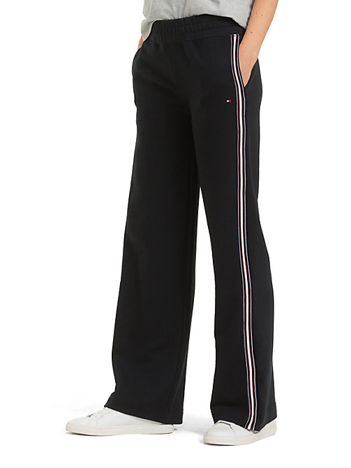 TOMMY HILFIGER Regular Fit Flared Stripe Joggers - BLACK BEAUTY - TOMMY HILFIGER Joggers - main image