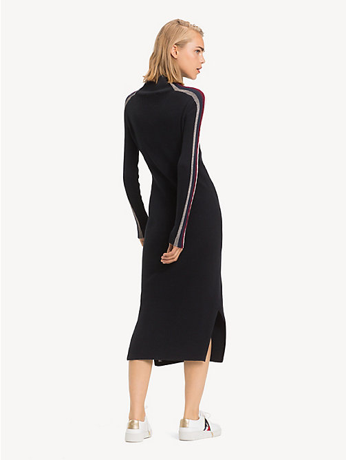 TOMMY HILFIGER Tommy Icons Midi Dress - BLACK BEAUTY - TOMMY HILFIGER Dresses - detail image 1