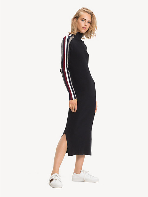 TOMMY HILFIGER Tommy Icons Midi Dress - BLACK BEAUTY - TOMMY HILFIGER TOMMY ICONS - main image