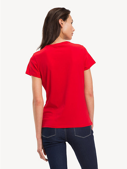 TOMMY HILFIGER Slim Fit T-Shirt - TRUE RED - TOMMY HILFIGER TOMMY JEANS DAMEN - main image 1