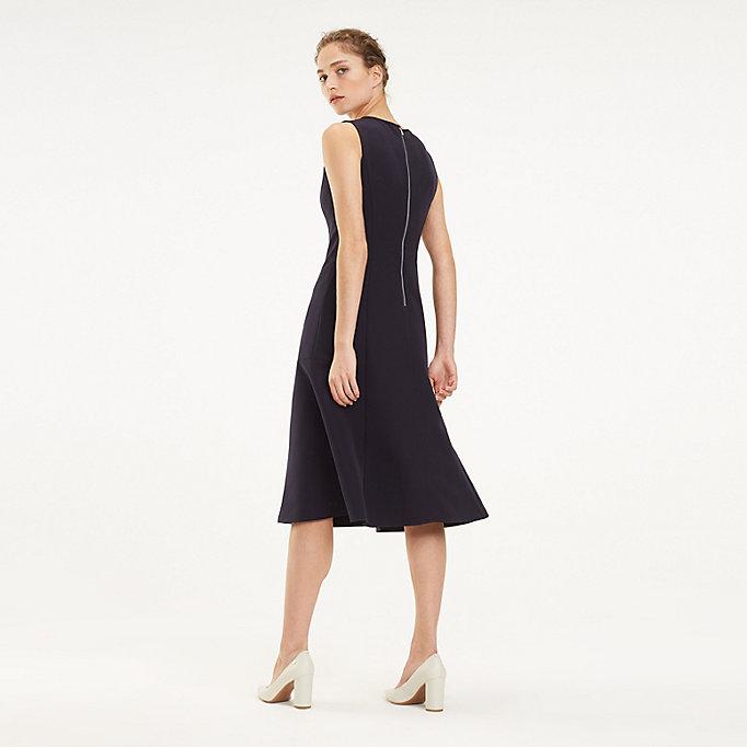 e2156db6064709f Платье миди с расклешенной юбкой | Tommy Hilfiger